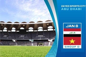 Xem bóng đá trực tiếp Asian Cup 2019: Việt Nam gặp Iraq, 20h30 ngày 8/1