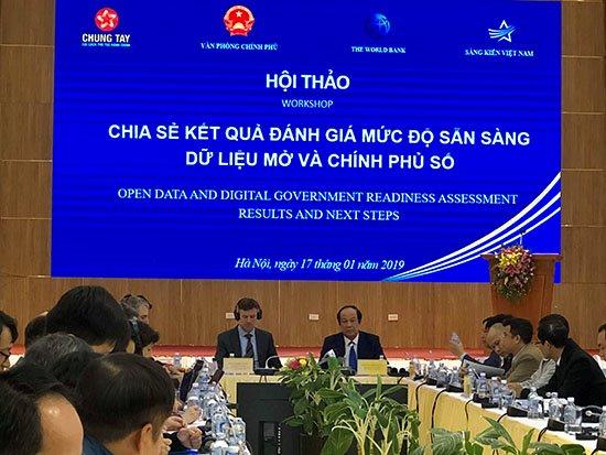 Đánh giá về mức độ sẵn sàng cho Chính phủ số và Dữ liệu mở tại Việt Nam | Việt Nam đã có được nền tảng vững chắc để phát triển Sáng kiến dữ liệu mở