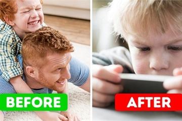 9 tác hại khôn lường khi phụ huynh cho con chơi smartphone