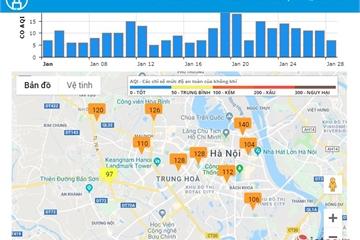 Xem mức độ ô nhiễm không khí trên website và ứng dụng smartphone