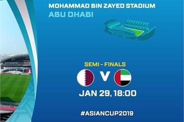 Xem bóng đá Asian Cup hôm nay: Qatar vs UAE, trận đấu bán kết 2