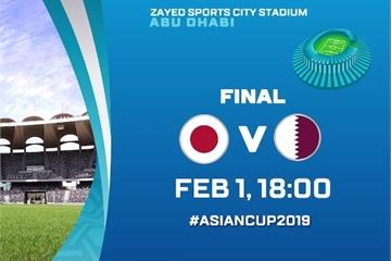 Kèo bóng đá Asian Cup 2019 hôm nay: Nhật Bản vs Qatar, trận chung kết