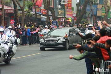Dàn xe không biển số bí ẩn của ông Kim Jong Un tại Hà Nội