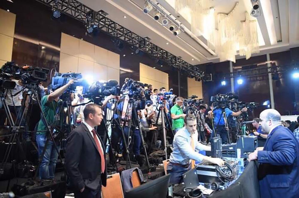 Phòng họp báo của Tổng thống Trump không còn chỗ trống