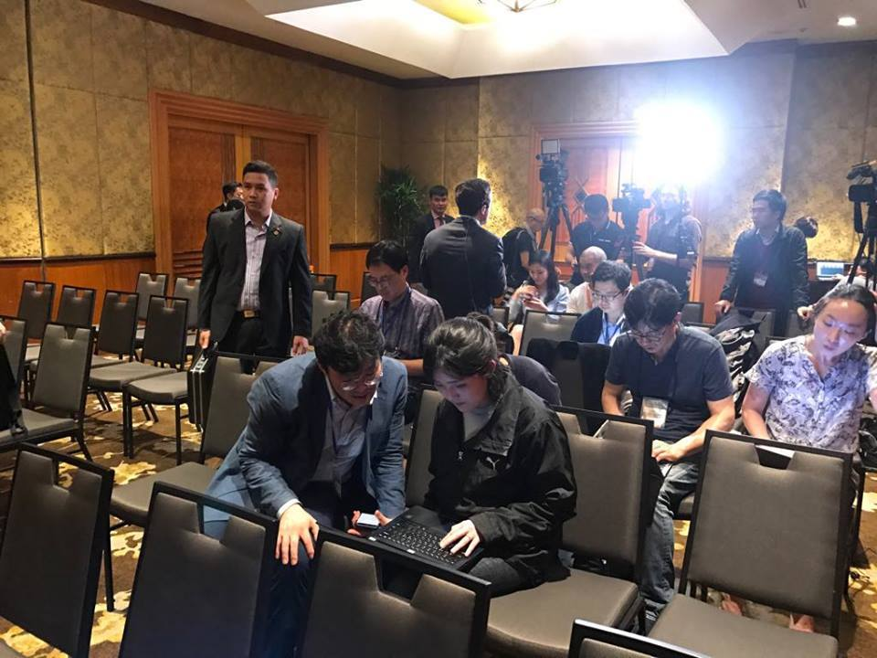 Triều Tiên tổ chức họp báo lúc nửa đêm ở khách sạn Melia