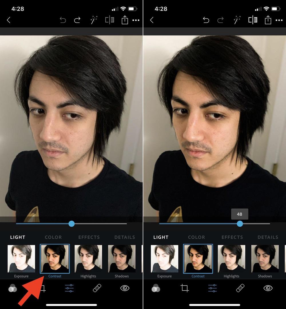 Chỉnh ảnh selfie tuyệt đẹp trên smartphone bằng Photoshop Express