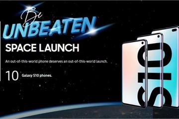 Samsung Malaysia chơi lớn, thả 10 chiếc Galaxy S10 vào không gian... để test camera