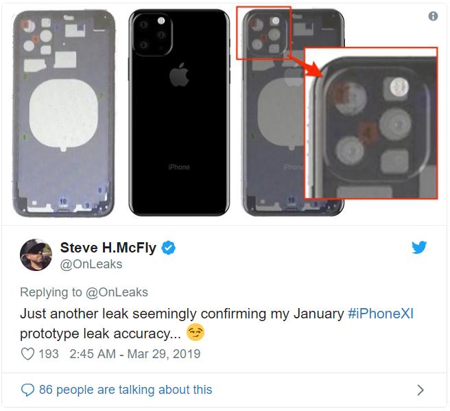 iPhone 11 đây rồi, cụm 3 camera nằm trong hình vuông y hệt Mate 20 Pro nhưng lại xếp lệch theo hình tam giác - Ảnh 1.