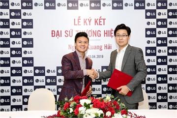 Quang Hải tiếp tục là Đại sứthương hiệu cho LG trong năm 2019
