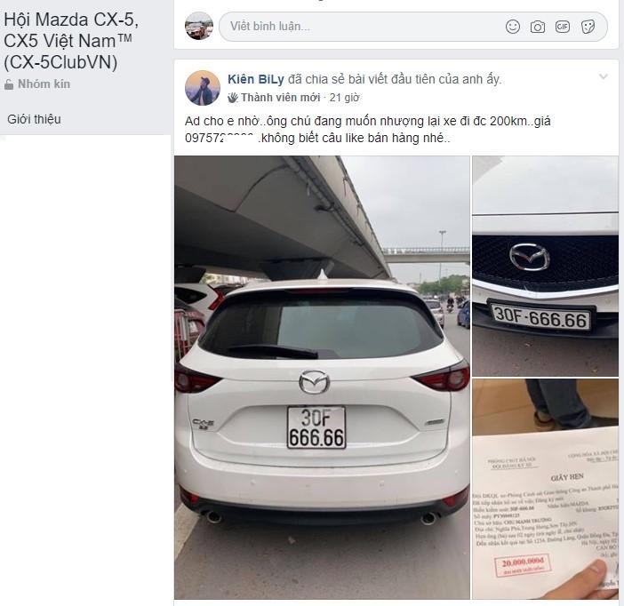Mazda CX-5 biển 'ngũ quý 6' rao giá hơn 3 tỷ