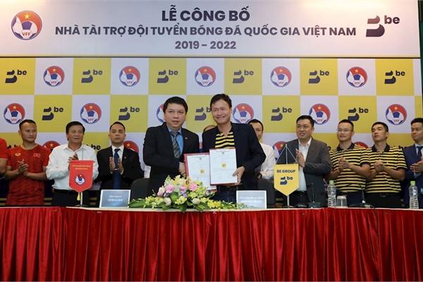"""Ứng dụng gọi xe """"be"""" trở thành nhà tài trợ cho đội tuyển bóng đá Quốc gia Việt Nam trong 3 năm"""