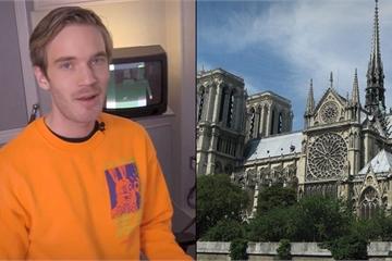 'Ăn theo' nhà thờ Đức Bà, PewDiePie phải xóa video YouTube