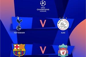 Lịch thi đấu bán kết Champions League 2019 cho người hâm mộ