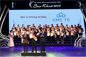CMC TS nhận cú đúp danh hiệu Sao Khuê 2019