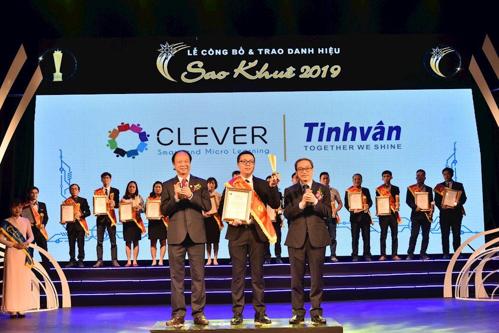 Giải pháp đào tạo trực tuyến Clever của Tinh Vân nhận danh hiệu Sao Khuê 2019 | Công ty Công nghệ Tinh Vân lần thứ 24 nhận danh hiệu Sao Khuê