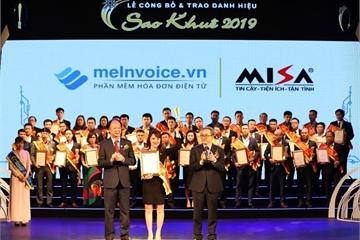 Giành danh hiệu Sao Khuê 2019, meInvoice.vn khẳng định vị trí hàng đầu thị trường hóa đơn điện tử Việt Nam
