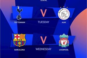 Lịch trực tiếp bán kết Champions League 2019 tuần này