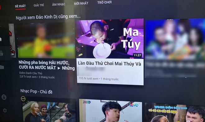 Sau Kha Banh, YouTube VN lai xuat hien video huong dan choi ma tuy hinh anh 1