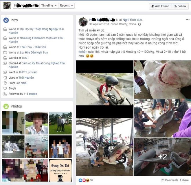 Thanh nien lam thit ca map dau bua, rao ban vay 10 trieu tren Facebook hinh anh 1