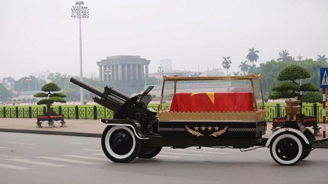 Hình ảnh Lễ di quan và an táng nguyên Chủ tịch nước Lê Đức Anh