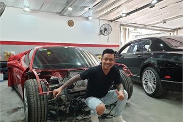 Siêu xe Ferrari 488 GTB của ca sĩ Tuấn Hưng sắp tái xuất sau tai nạn