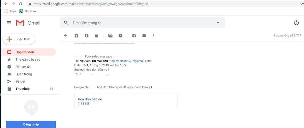 Hành trình chiếm máy người dùng của mã độc đính kèm email