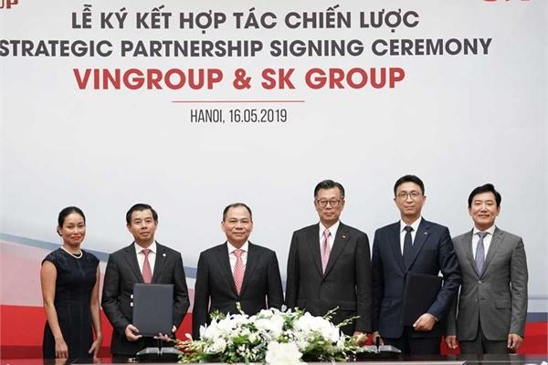 Tập đoàn SK  đầu tư 1 tỷ USD vào Vingroup để trở thành đối tác chiến lược