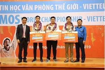 Lộ diện 3 học sinh, sinh viên Việt giành suất sang Mỹ thi Tin học văn phòng thế giới 2019