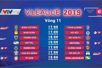 Lịch bóng đá vòng 11 V.League và vòng 8 giải hạng Nhất Quốc gia cuối tuần này