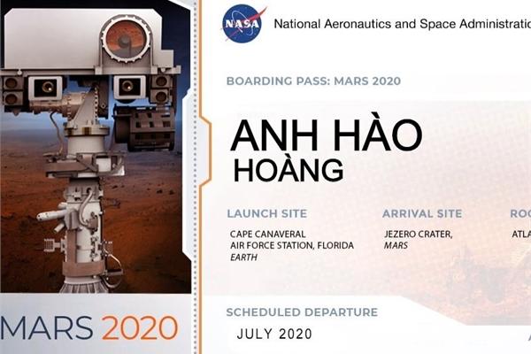 Hướng dẫn ghi tên lên robot thám hiểm Sao Hỏa