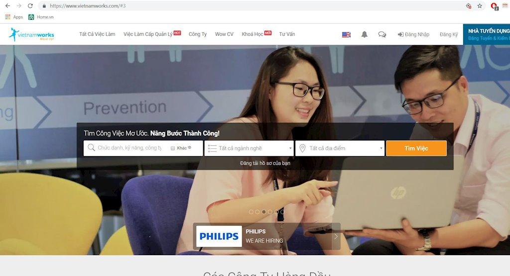 Công nghệ máy học góp hơn 35% lượng hồ sơ ứng tuyển trên VietnamWorks   Ứng dụng công nghệ máy học giúp VietnamWorks tăng hơn 35% lượng hồ sơ ứng tuyển   Trang web tuyển dụng trực tuyến VietnamWorks cán mốc 4 triệu thành viên đăng ký