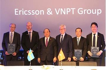 Ericsson, VNPT bắt tay hợp tác đổi mới sáng tạo Công nghiệp 4.0 và Internet vạn vật