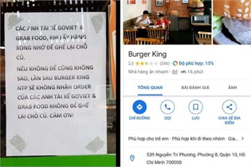 """Cửa hàng Burger King bị """"dìm sao"""" hội đồng vì kỳ thị tài xế Grab, Go Viet"""