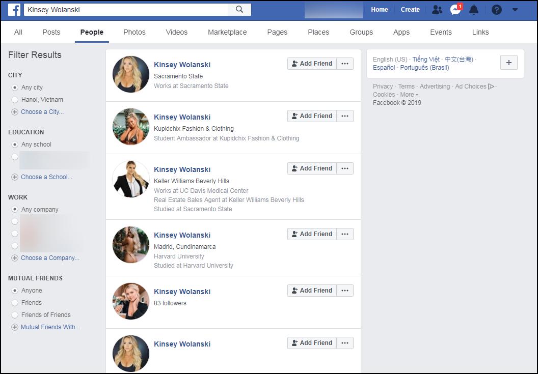 Đừng dại xin link Facebook cô gái hở hang đại náo chung kết C1: Hầu hết là giả mạo, dụ dỗ lừa đảo - Ảnh 2.