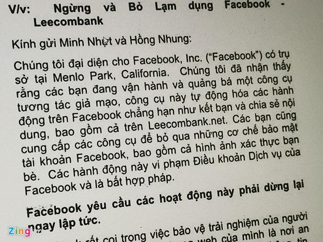 Hang nghin tai khoan tai VN bi xoa vi Facebook truy quet nick ao hinh anh 1
