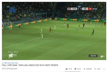 Trận đại chiến Việt Nam vs Thái Lan lập kỷ lục hơn 1,3 triệu lượt xem cùng lúc trên YouTube