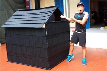 Làm nhà bằng 5.000 ống hút, vlogger bị chê 'tận cùng của thiếu ý thức'