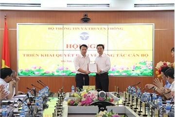 Bộ TT&TT bổ nhiệm ông Nguyễn Huy Dũng giữ chức Cục trưởng Cục An toàn thông tin