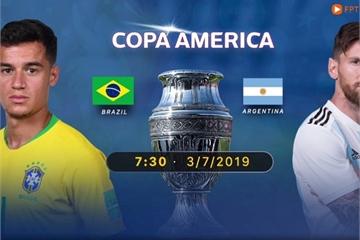 Link xem Brazil vs Argentina, 7h30 ngày 3/7, trên FPT Play