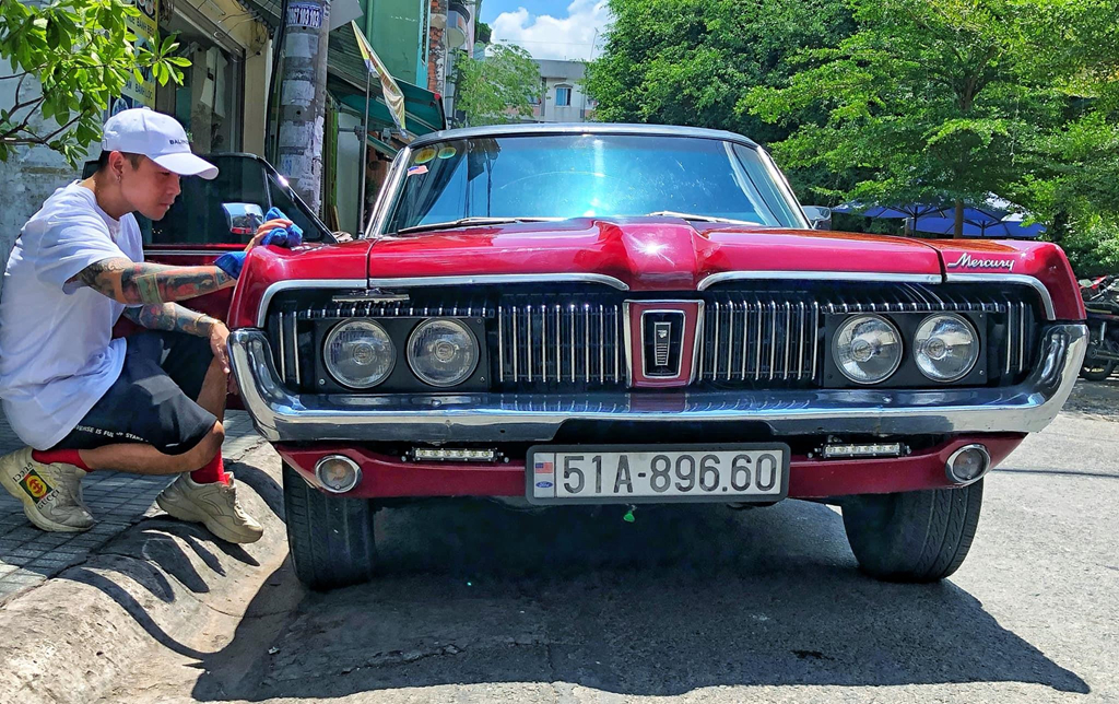 Rapper Viet tau xe co 'tien ty' Mercury Cougar 1968 hinh anh 1