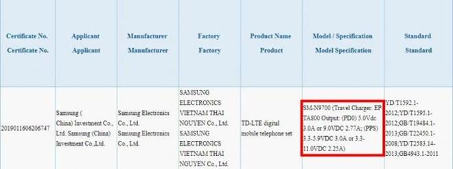 Sac Galaxy Note10 san xuat o VN, nap sieu nhanh len den 45 W hinh anh 1