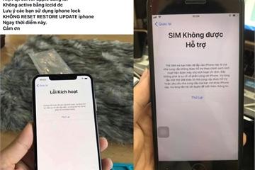 Bài cũ lặp lại, người dùng iPhone lock tại VN lại khốn khổ
