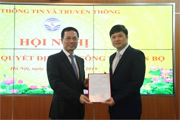 Bộ TT&TT bổ nhiệm ông Hoàng Minh Cường làm Cục trưởng Cục Viễn thông