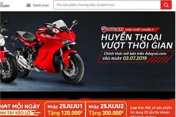 VinGroup nhảy vào mảng mô tô phân khối lớn, bán xe Ducati trên trang TMĐT Adayroi