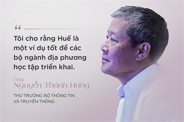 """Thứ trưởng Nguyễn Thành Hưng: """"Muốn làm tốt đô thị thông minh cần đầu tư tập trung, lựa chọn doanh nghiệp uy tín để hợp tác"""""""