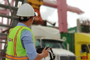 Sao Bắc Đẩu triển khai thành công nền tảng vận hành cảng container tự động