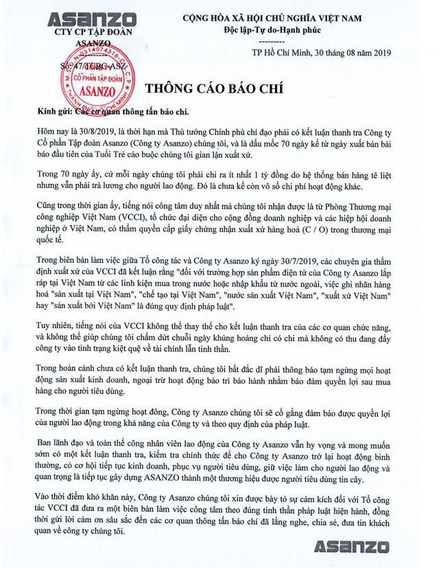 Asanzo thông báo tạm dừng hoạt động: Ông Phạm Văn Tam nói gì? - Ảnh 2.