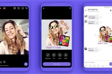Viber cho người dùng tự thiết kế sticker trên ứng dụng