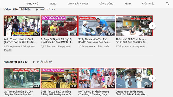 Dương Minh Tuyền mở kênh YouTube mới, tiếp tục làm video bạo lực