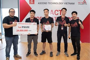 Chung kết thi lập trình ACT Code Battle 2019, đội Hotfix giành giải nhất